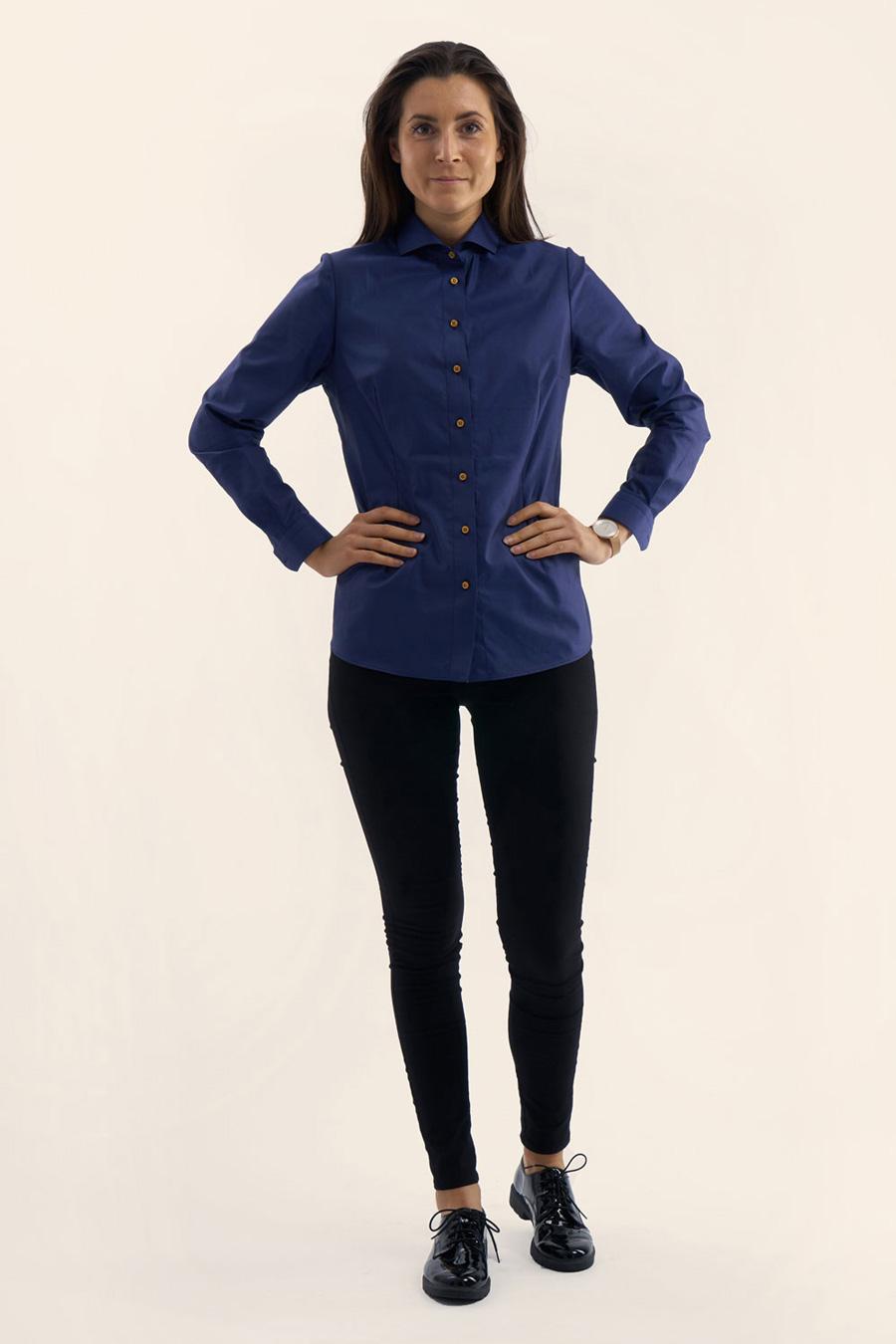 Anthracite Blue Dame Skjorte 5