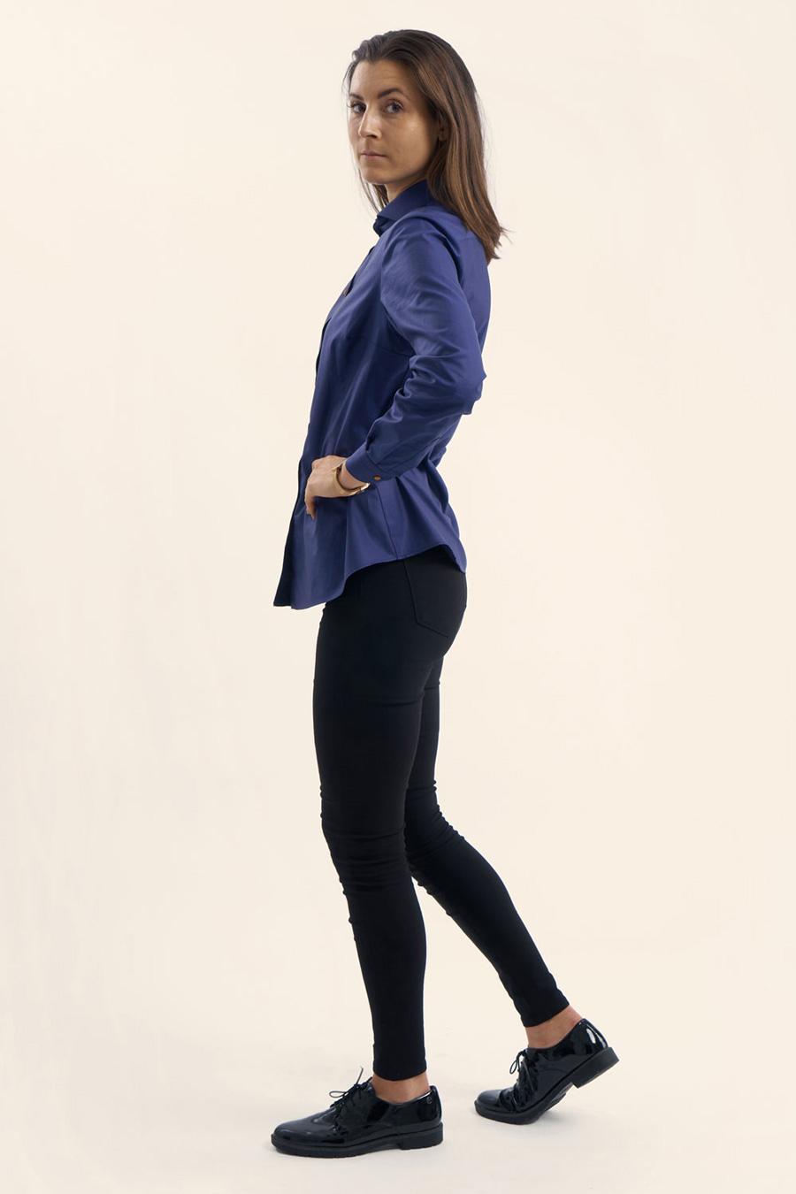 Anthracite Blue Dame Skjorte 3