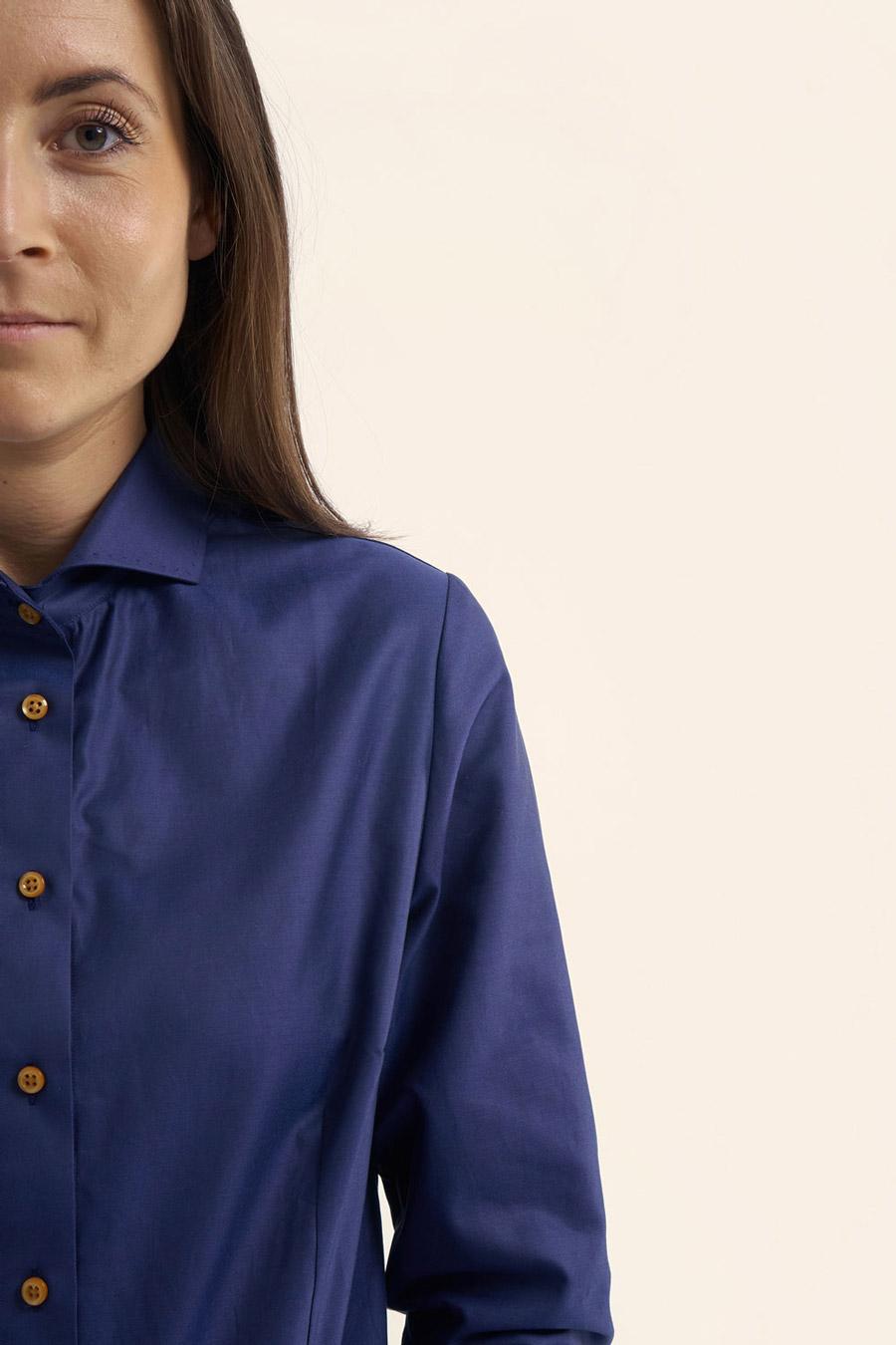 Anthracite Blue Dame Skjorte 1