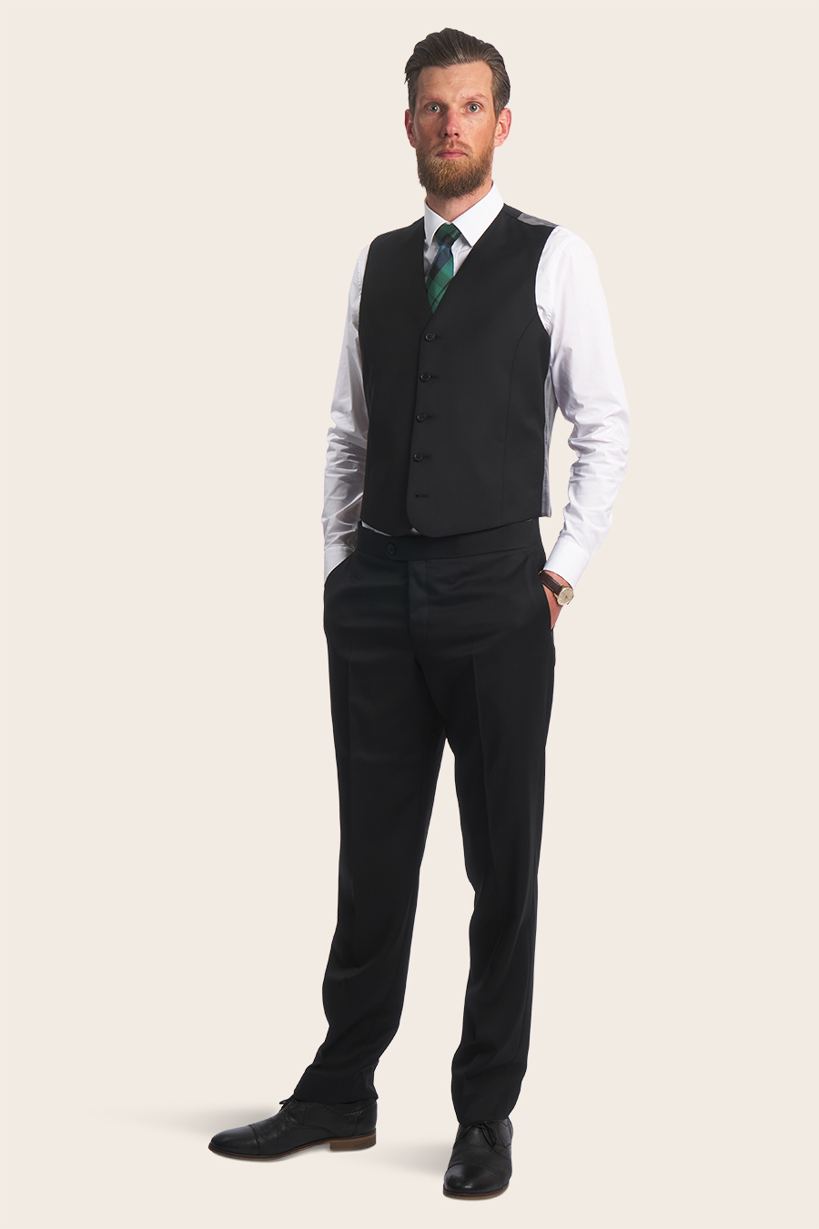 Black Universal Herre Vest 5