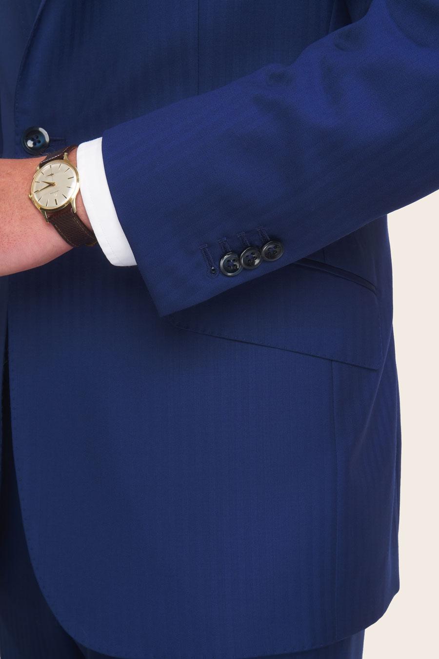 Blue Herringbone Herre Jakke 5