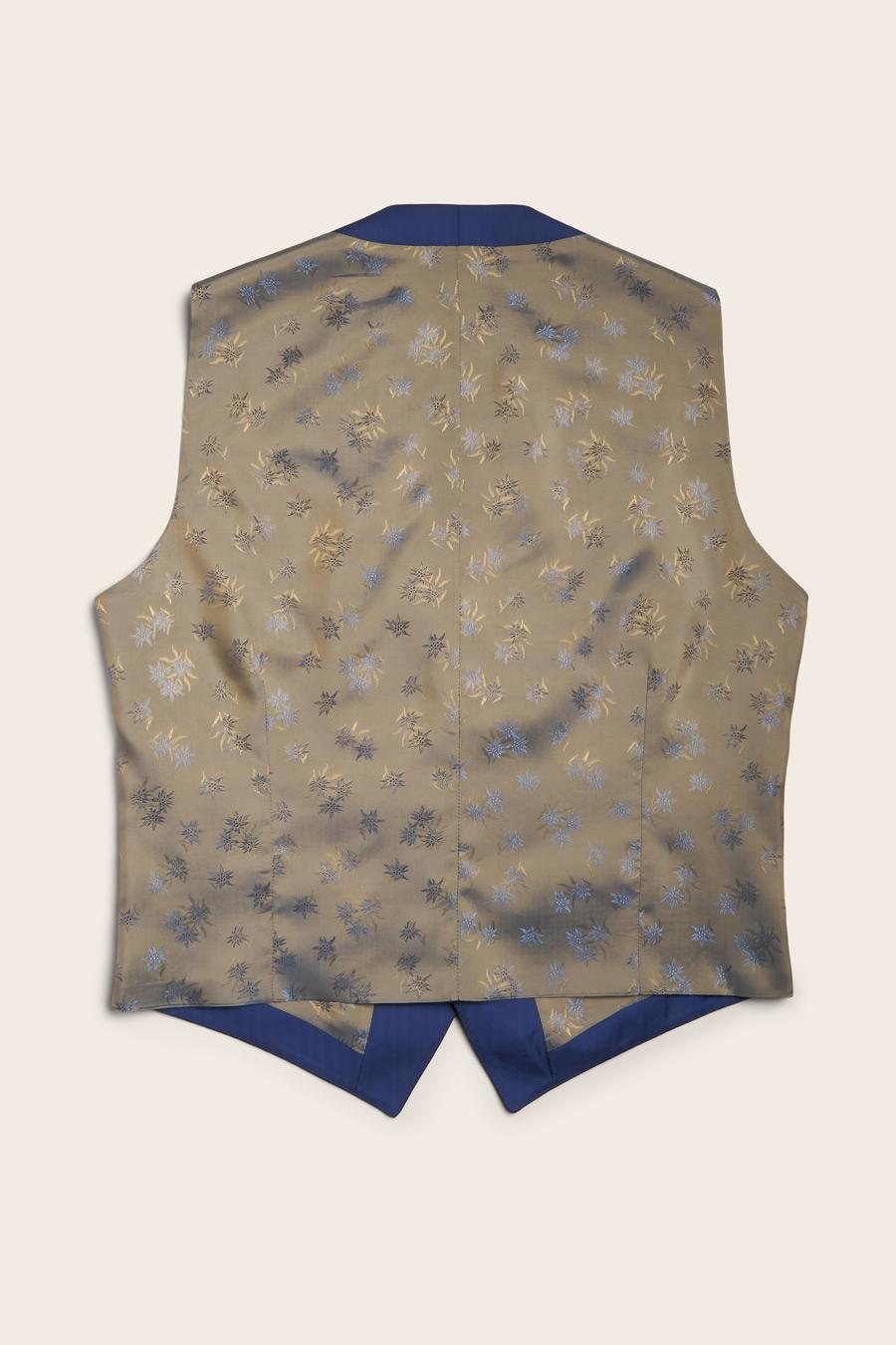 Blue Herringbone Herre Vest 2