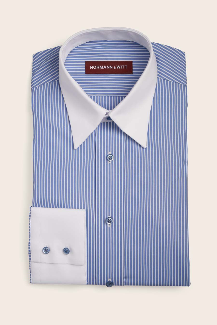 "Featured image for ""Blue White Stripe Cotton Herre Skjorte"""