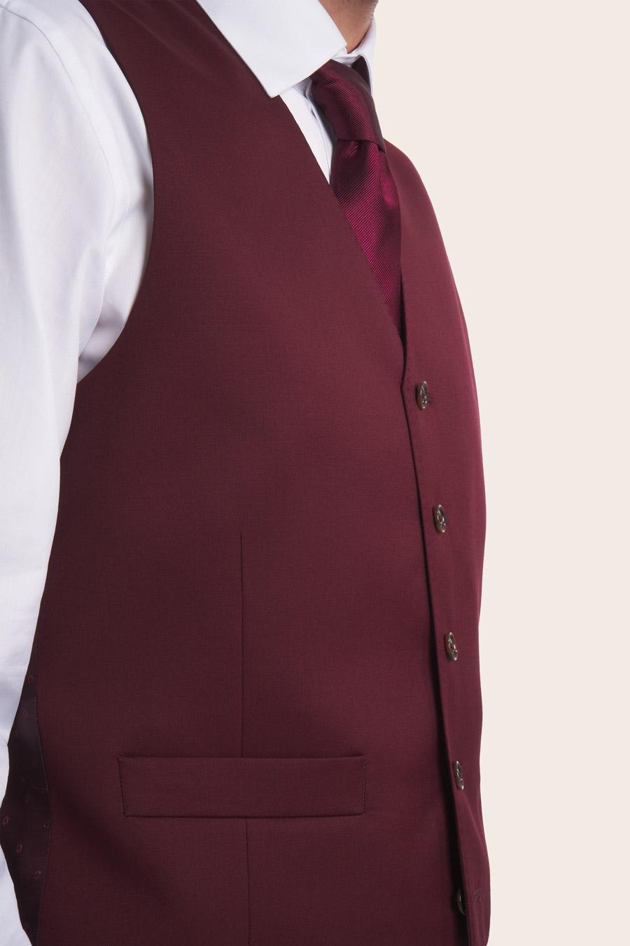 Burgundy Wool Herre Vest 3