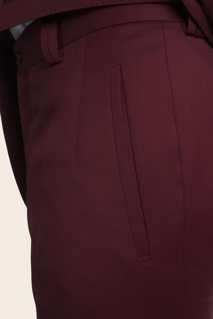 Burgundy Wool Herre Buks 2