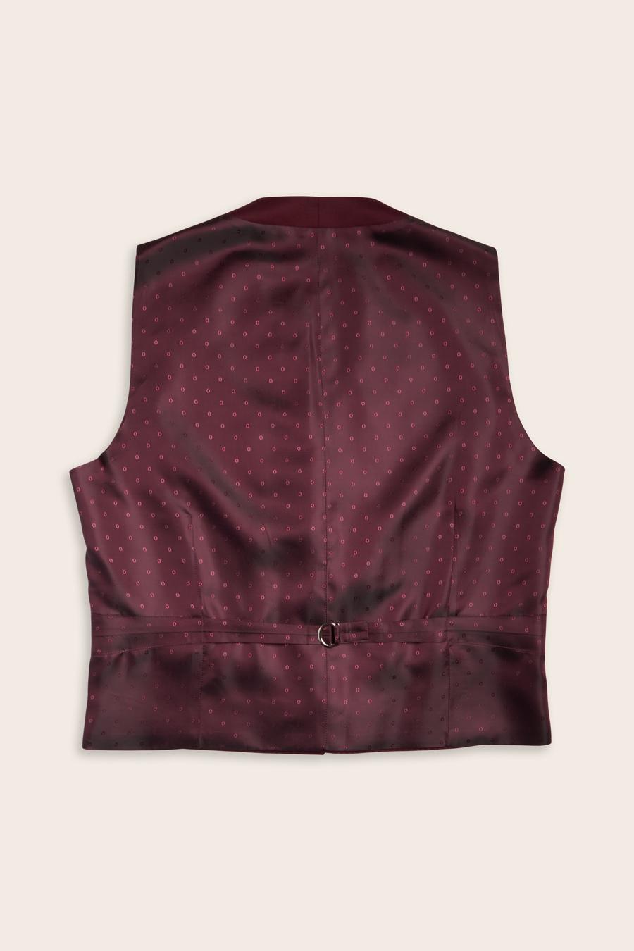 Burgundy Wool Herre Vest 2
