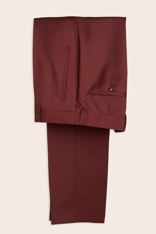 Burgundy Wool Herre Buks 1