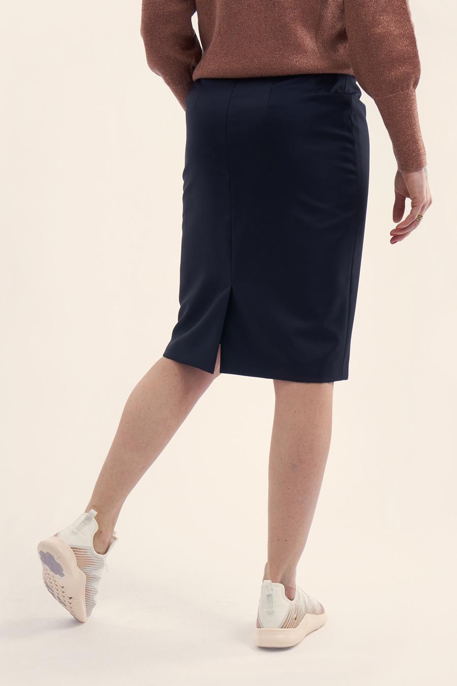 Dark Blue Fine Wool Dame Nederdel 2