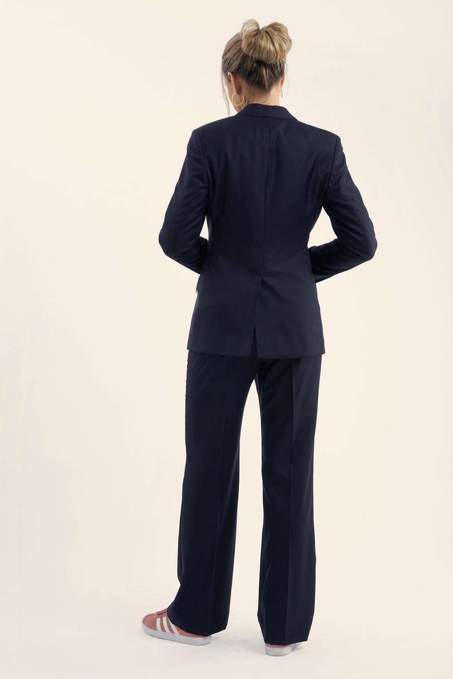 Dark Blue Fine Wool Dame Jakkesæt 3