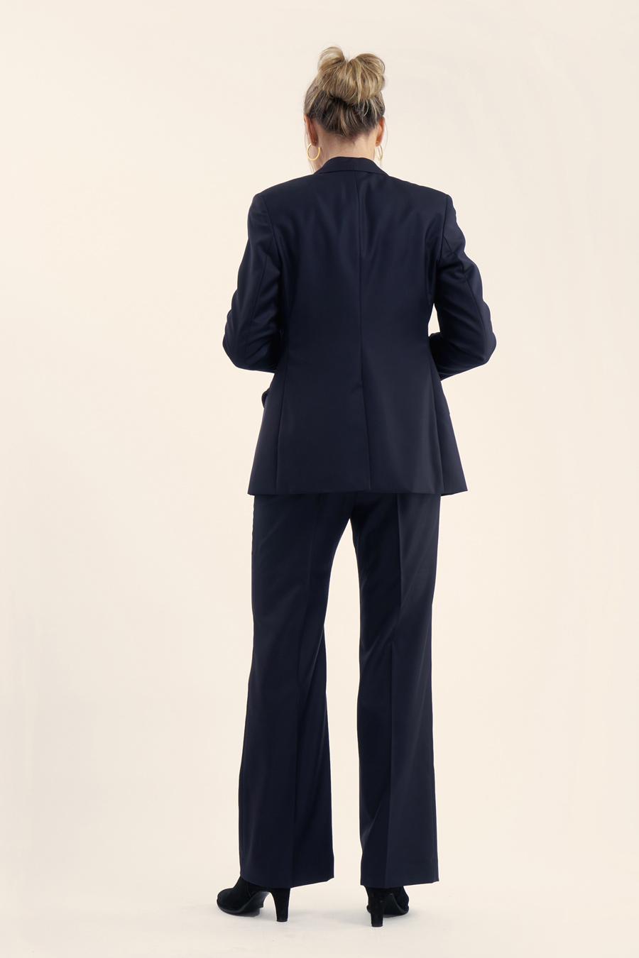 Dark Blue Fine Wool Dame Jakkesæt 2