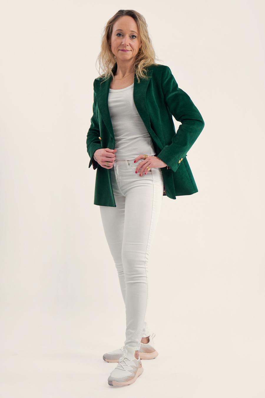 Green Corduroy Dame Jakke 7