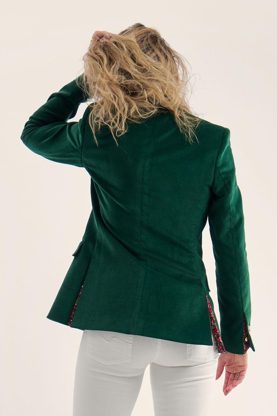 Green Corduroy Dame Jakke 5