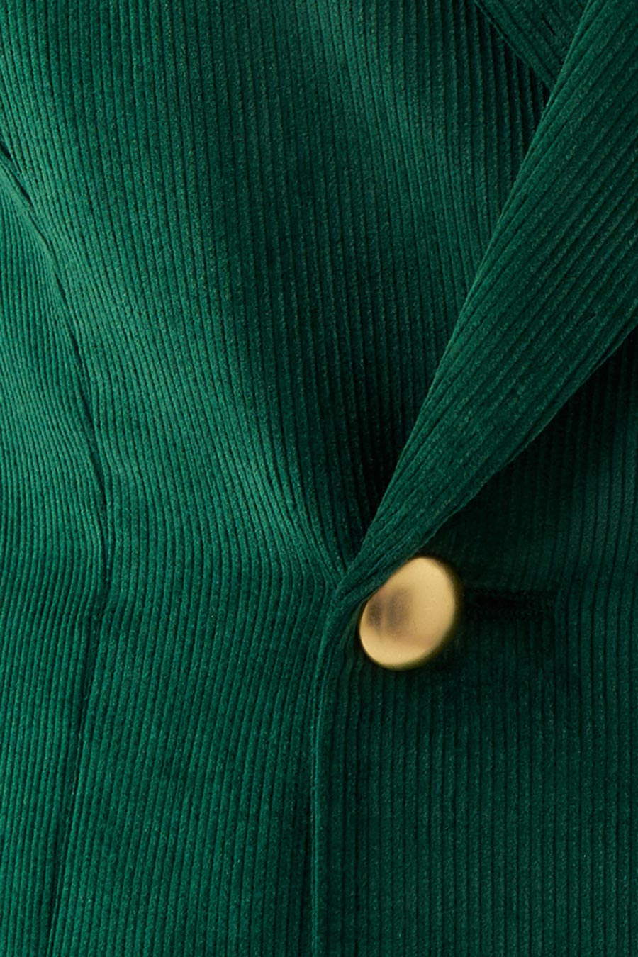Green Corduroy Dame Jakke 4