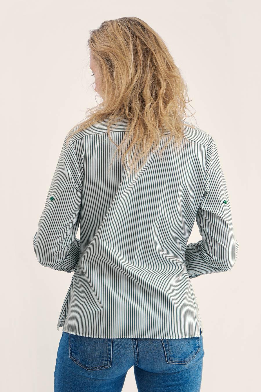 Green Stripes Dame Skjorte 2