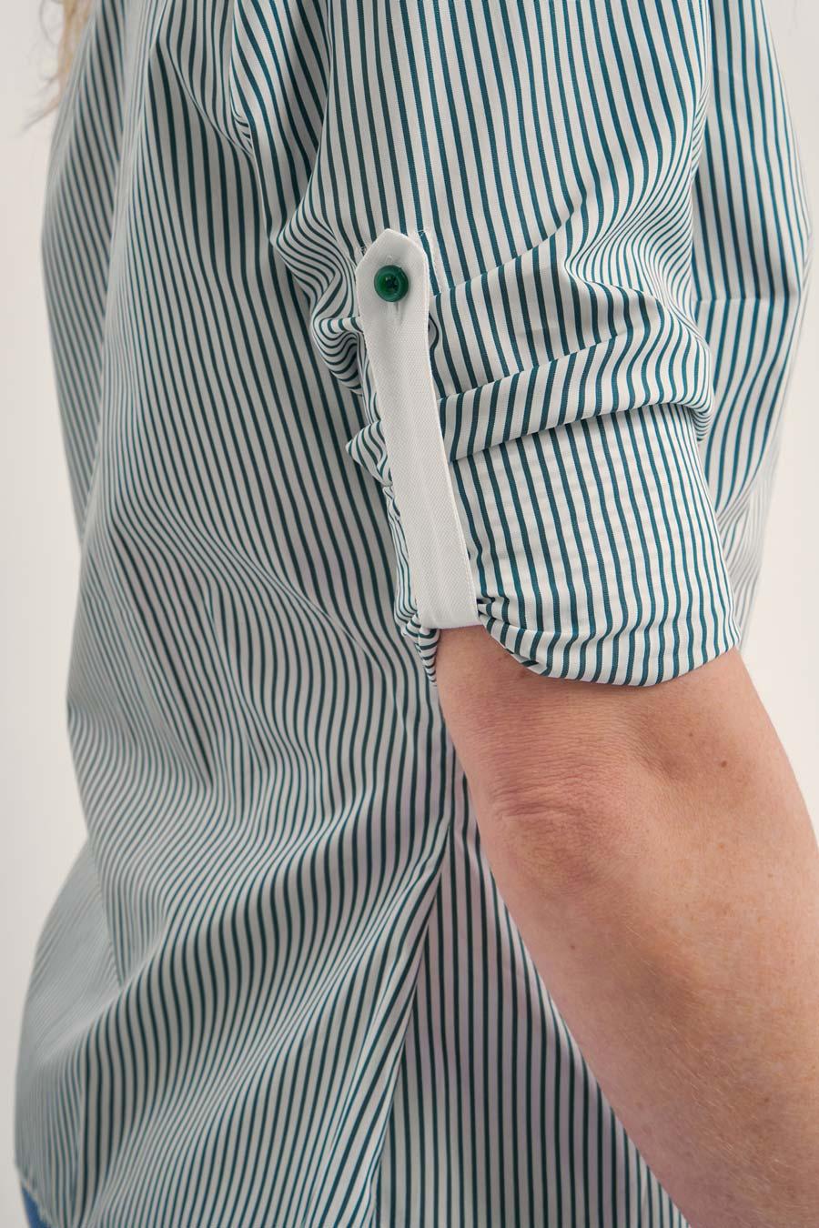 Green Stripes Dame Skjorte 4