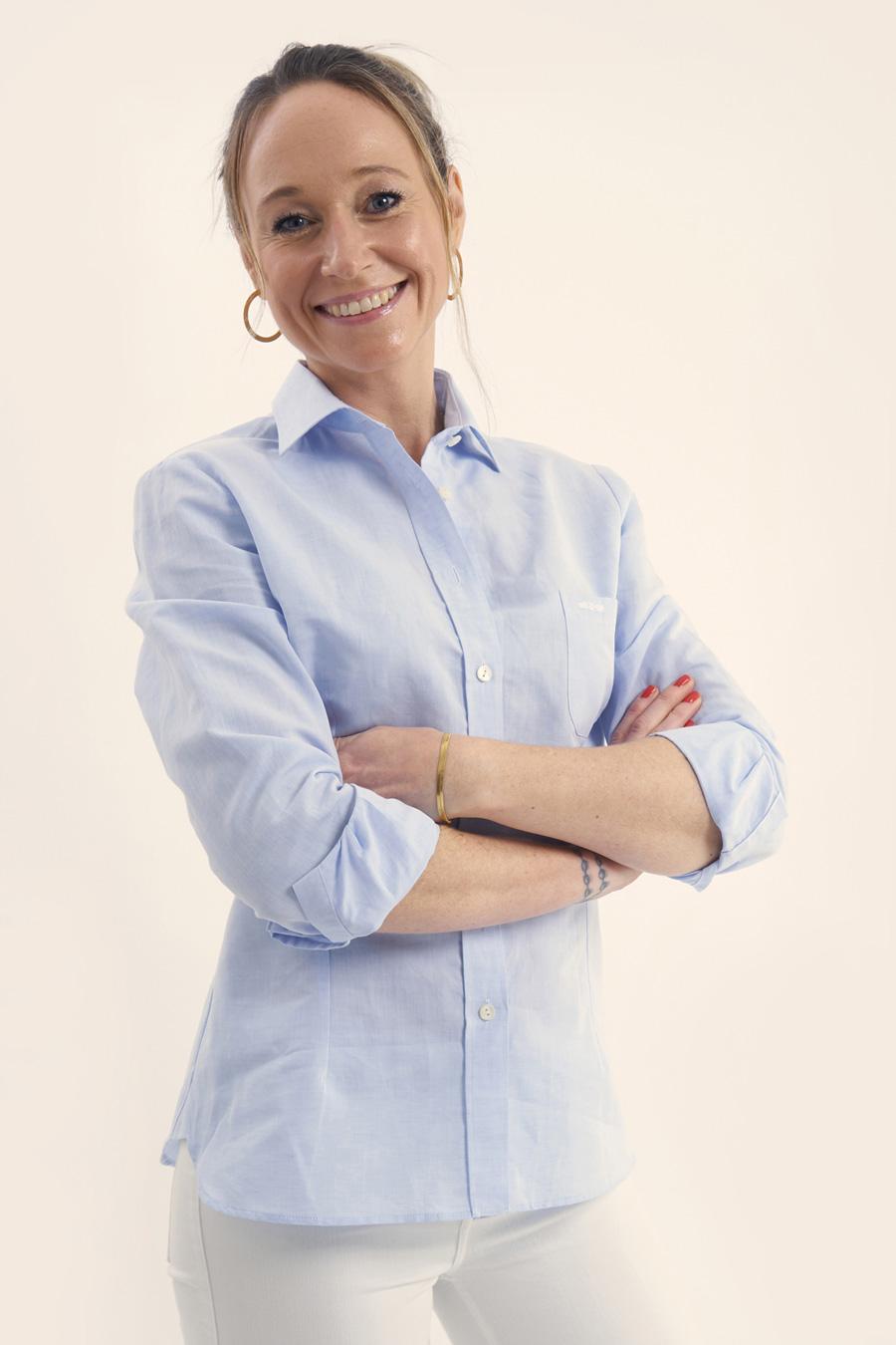 Light Blue Linen Dame Skjorte 5