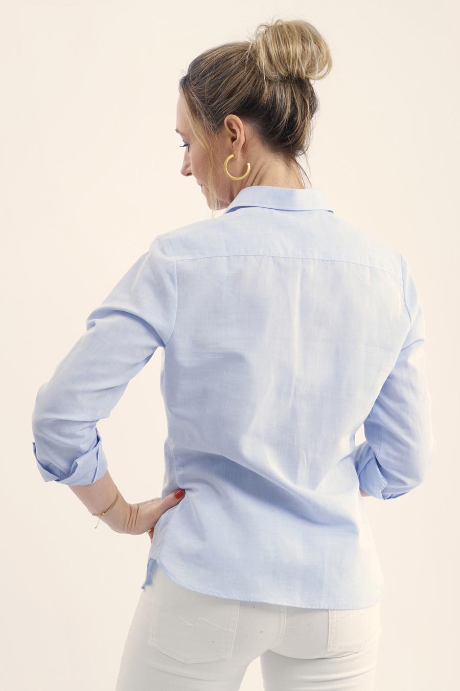 Light Blue Linen Dame Skjorte 2