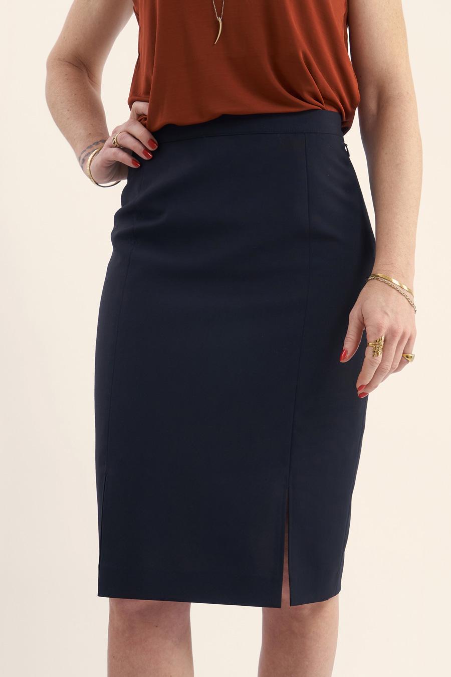 Navy Wool Dame Nederdel 2