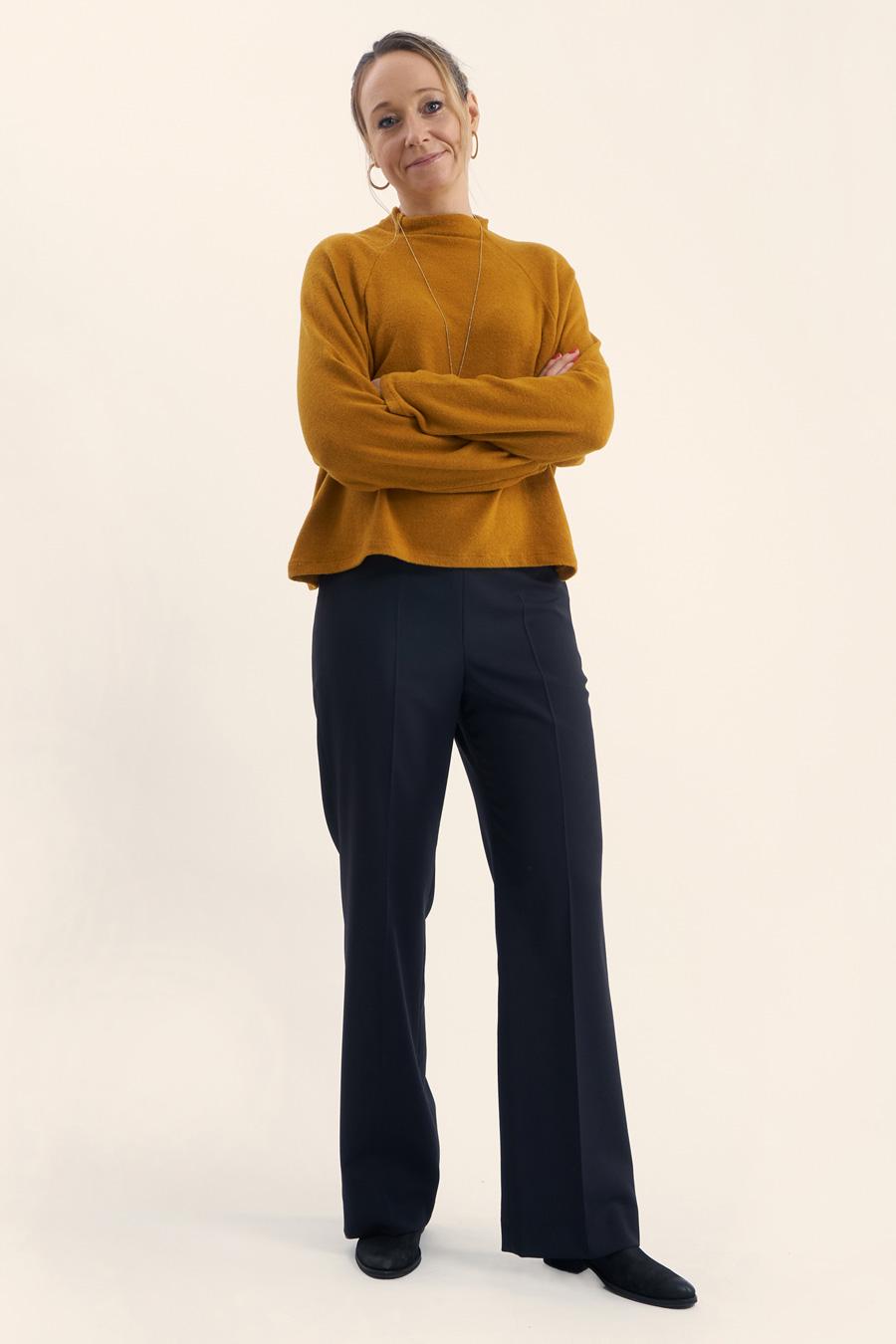 Navy Wool Dame Buks 5