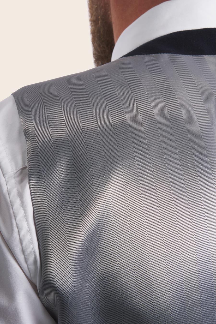 Navy Wool Herre Vest 5