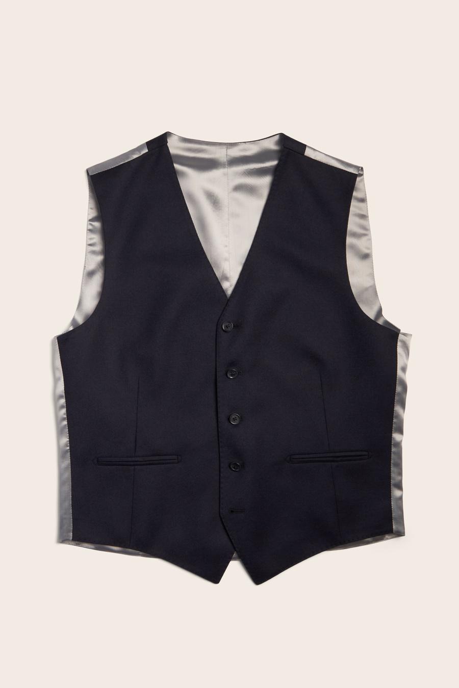 Navy Wool Herre Vest 1