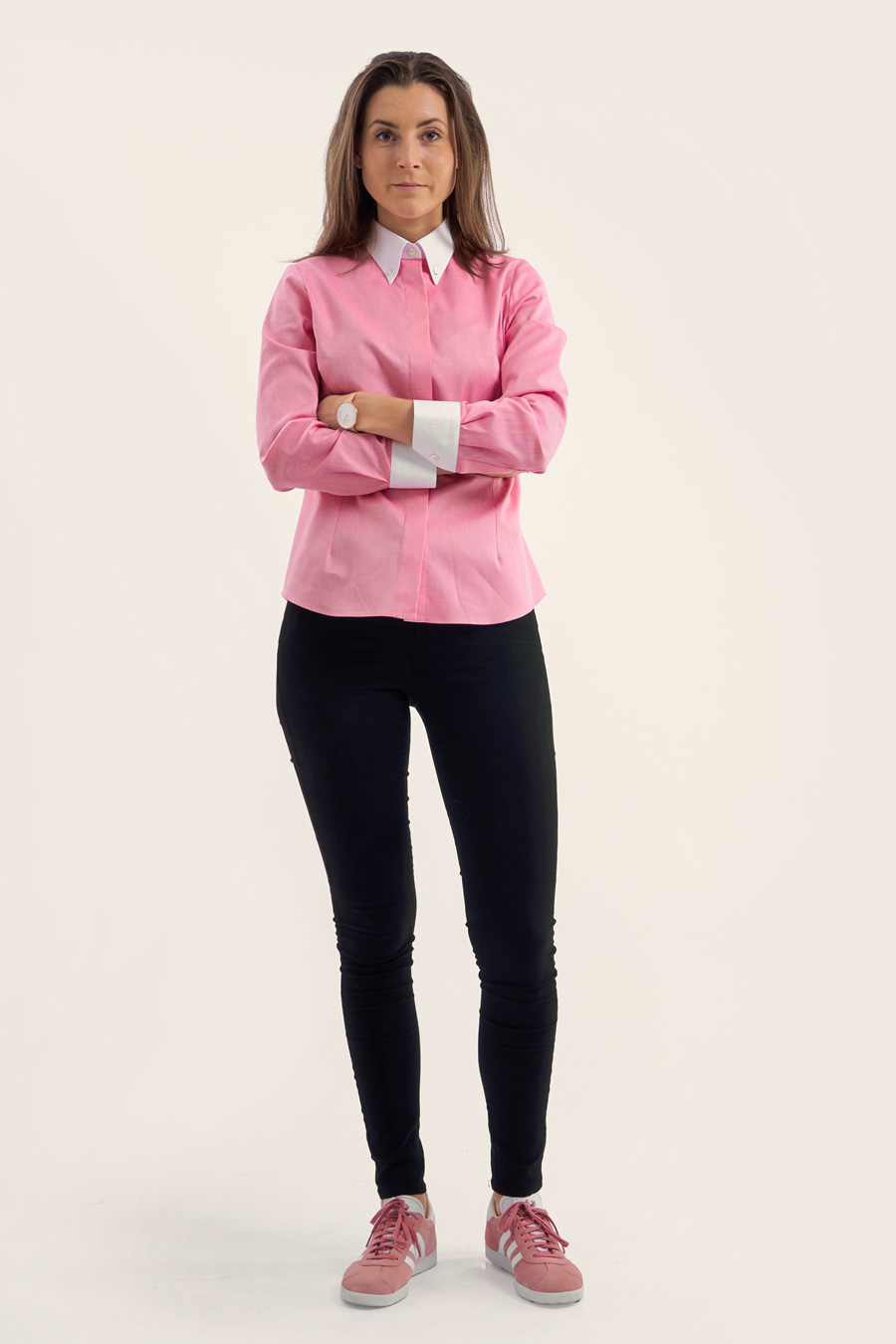 Pink Cotton Dame Skjorte 5