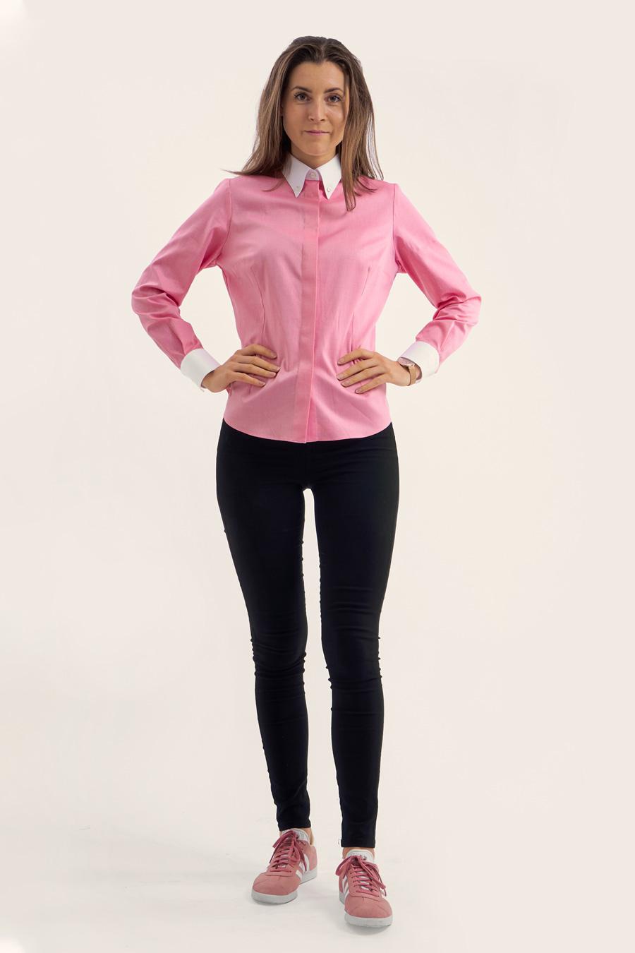 Pink Cotton Dame Skjorte 1