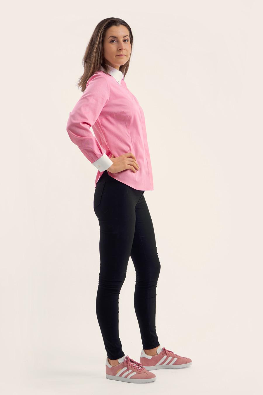 Pink Cotton Dame Skjorte 4