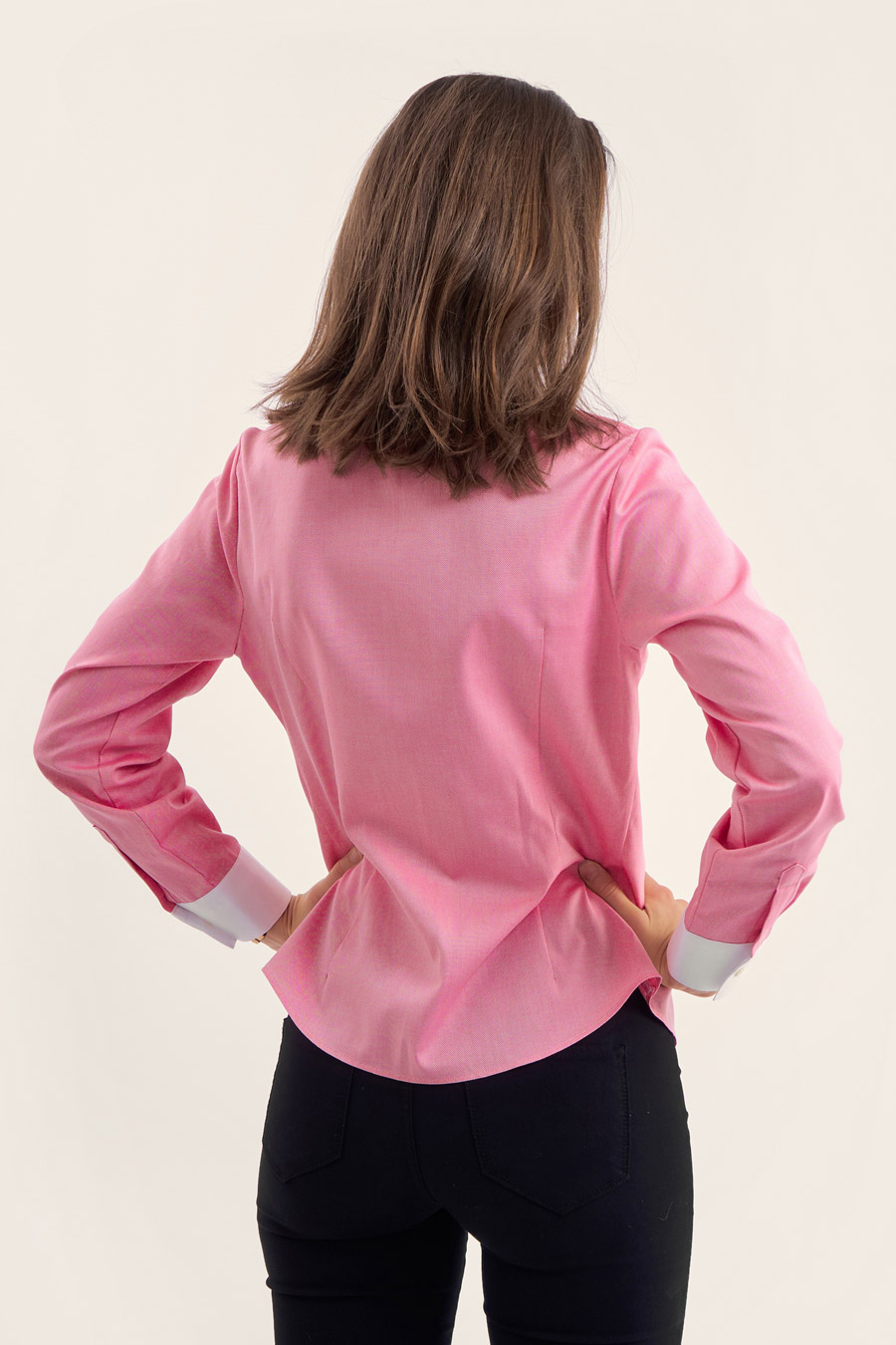 Pink Cotton Dame Skjorte 2