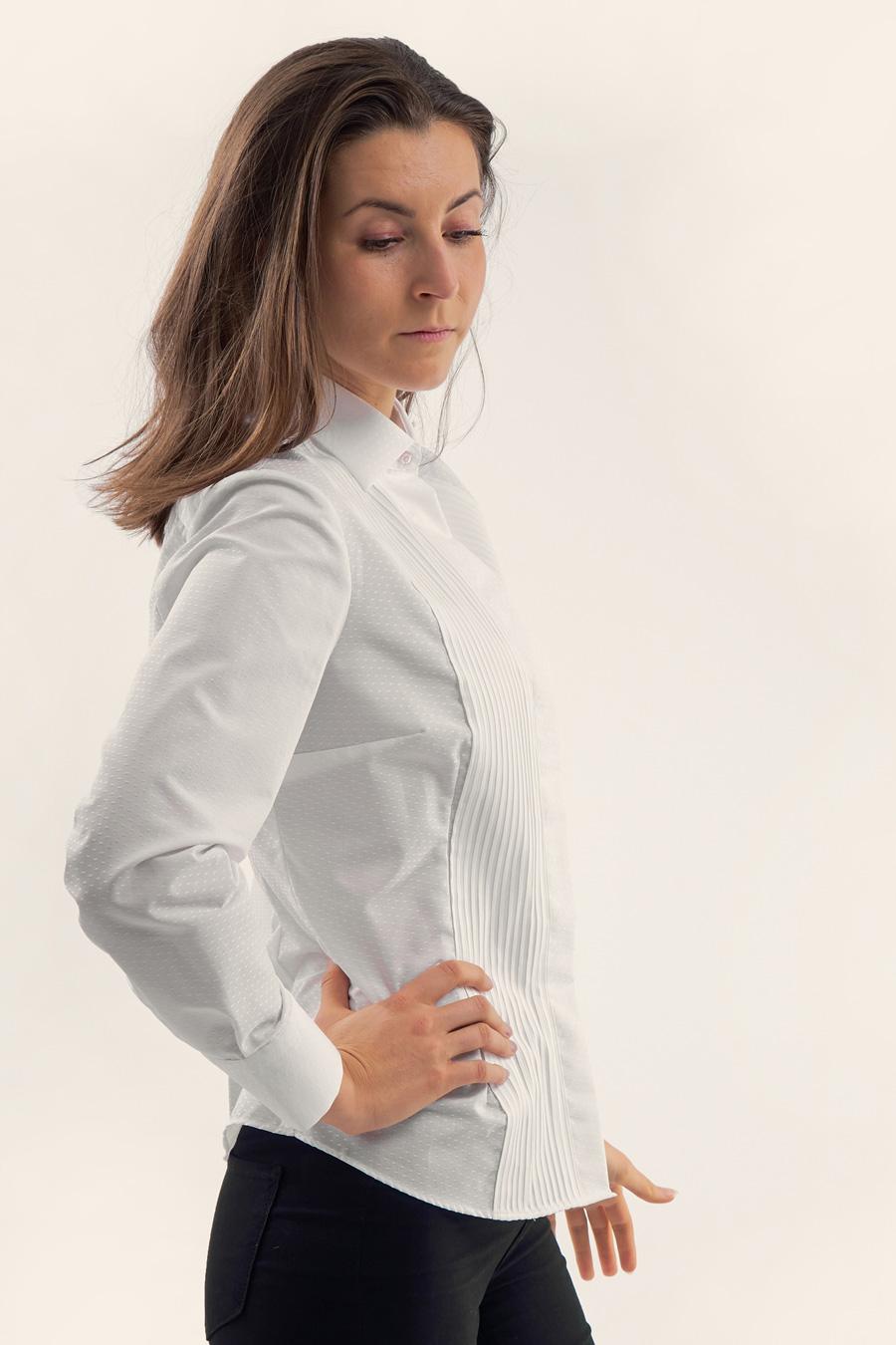 White Dot Dame Skjorte 5