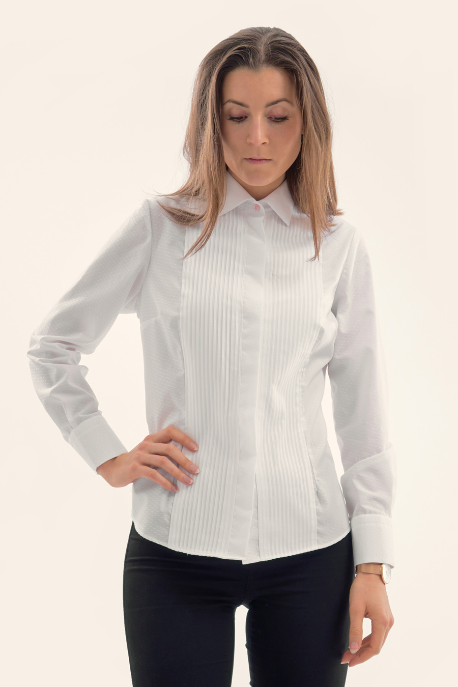 White Dot Dame Skjorte 1